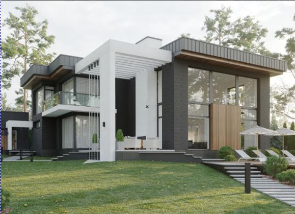 Проект приватного будинку по вул.Альфреда Нобеля