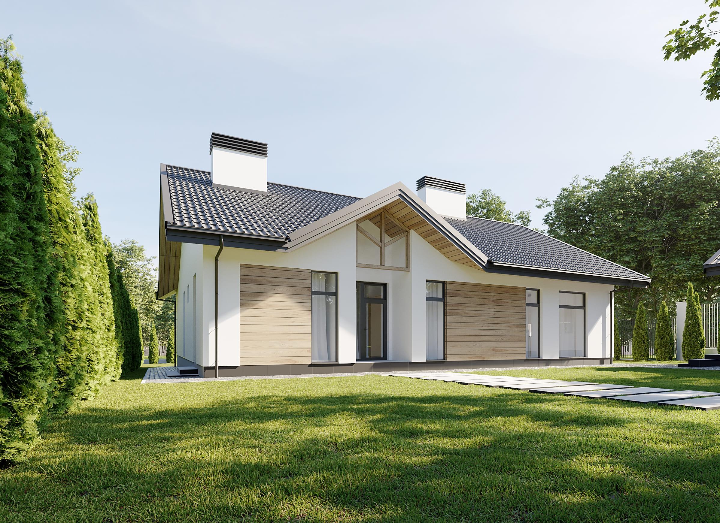 Проект частного дома по ул. Вишнёвая